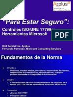 Iso 17799 y Herramientas Microsoft