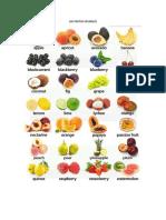 Frutas Inglés