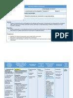 Planeación Didáctica Unidad 2 - Sistemas de información