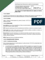 Montaje de Transformadores de Cambio Tensión 13.2-7.6kv Red Rural Cens