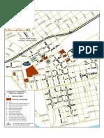 Memorial Service Parking Map