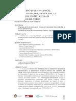 Versão Português - I Congresso Internacional direitos humanos, democracia e desenhos institucionais em tempos de crise