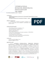 Versión Castellano - I Congreso Internacional derechos humanos, democracia y diseños institucionales en tiempos de crisis