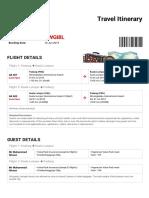 AirAsia Travel Itinerary - Booking No
