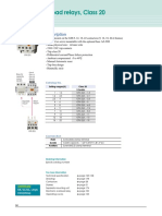 Thermal Overload Relays Class 20