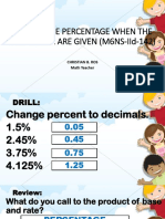Finding the Percentage With the Rate & Base