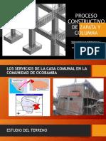 Proceso Constructivo de Zapata y Columna