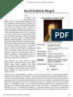 Georg Wilhelm Friedrich Hegel – Wikipédia, A Enciclopédia Livre