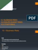 Chapter 10 Risk Management