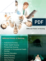 100031741 Different Fields of Nursing