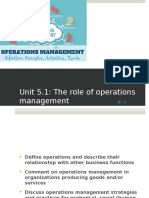 Operations Management Lecture