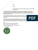 Park District Email About Harding Park Cleaning