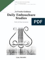 Daily Embouchure Studies Treble Clef - Goldman