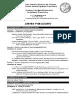 Jijiag 2019 - Programa Definitivo