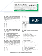 1º Médio - 2B - Global - Quimica