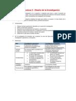 Resumen - Diseño de La Investigación