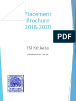 ISI Placement Brochure 2019 2020