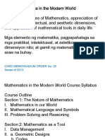 Section 1 the Nature of Mathematics Part 1 Mathematics in Our World