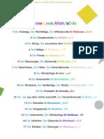 Die 99 Namen von Allah
