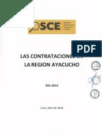 Las contrataciones en la regio ayacucho