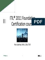 ITIL Foundation Training v3.0
