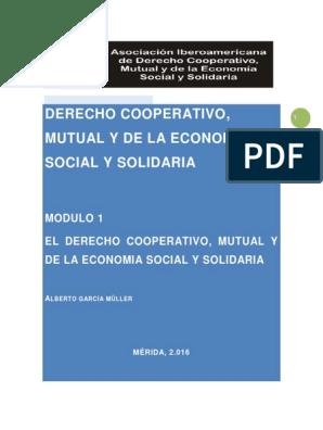 Modulo 1 El Derecho Cooperativo Economía Social Cooperativa