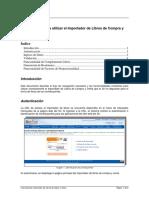 Manual importador Libro de compraventa SII