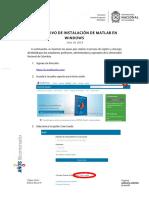 Instructivo Matlab Final Windows