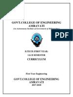 First Year Curriculum Wef 2017-2018