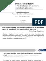 Uma leitura crítica dos conceitos de mundialização do capital e de regime de acumulação com predominância financeira