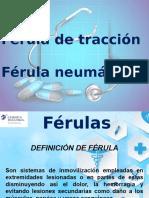 ferula de traccion y neumatica