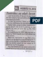 Ngayon, Aug. 14, 2019, Taas-tax sa alak lusot.pdf