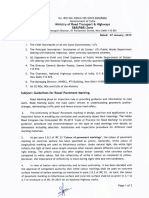 Ministry Circular for Road Marking Dt Jan 2019