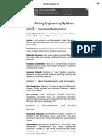 GATE Mining Engineering Syllabus - 2017-2018 GATEsyllabus