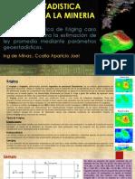 Geoestadistica aplicación de Kriging en Mina de Au.(caso practico)