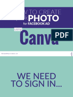 How to Create Quick Facebook Ad Photo in Canva