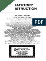 Statutory Construction by Rolando Suarez