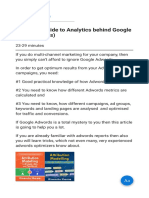 Complete Guide to Analytics Behind Google Ads (Adwords)