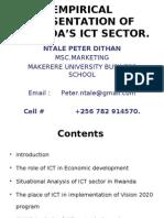 Ntale Peter Dithan - Empirical Presentation on Rwanda's Ict Sector