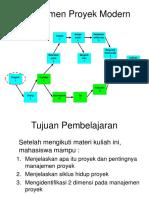 Bab 1 Manajemen Proyek Modern