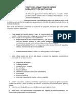 Reglamento Ministerio de Niños