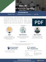 WorkshopPLUS - Data AI Azure Machine Learning