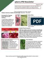 Raspberry IPM Newsletter - August 9, 2019