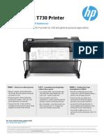 HP Designjet T730 Datasheet