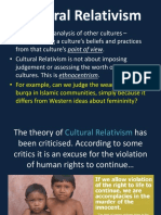 Cultural Relativism and Ethnocentrism