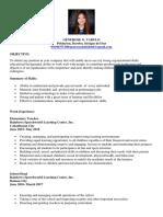 Generose Tabulo's Resume