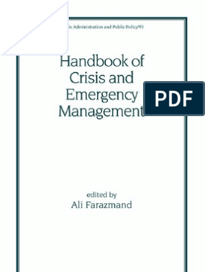 bbb32b54badaa Handbook of Crisis and Emergency Management | Crisis Management ...