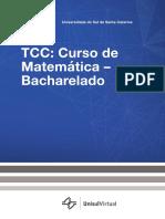 Tcc Curso de Matemática Unisul