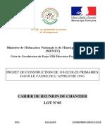 Cahier de Réunion de Chantier