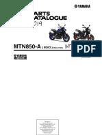 Parts Catalogue -Yamaha MT 09